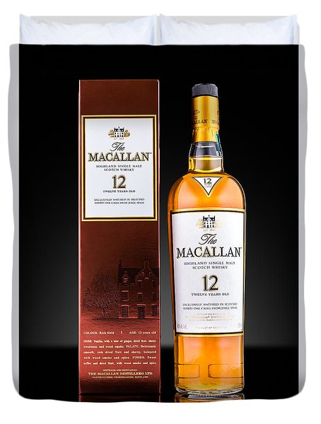 Macallan Single Malt Whisky Duvet Cover by Mihai Andritoiu