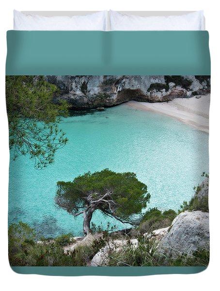 Macarelleta Turquoise Jewell By Pedro Cardona Duvet Cover