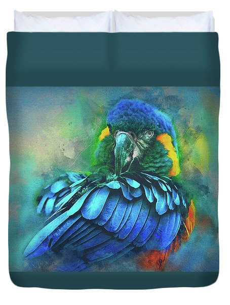 Macaw Magic Duvet Cover by Brian Tarr