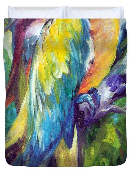 Macaw Pair Duvet Cover