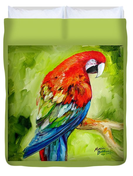 Macaw Tropical Duvet Cover by Marcia Baldwin