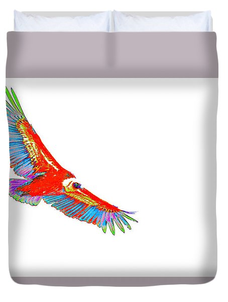 Macaw Vulture Duvet Cover