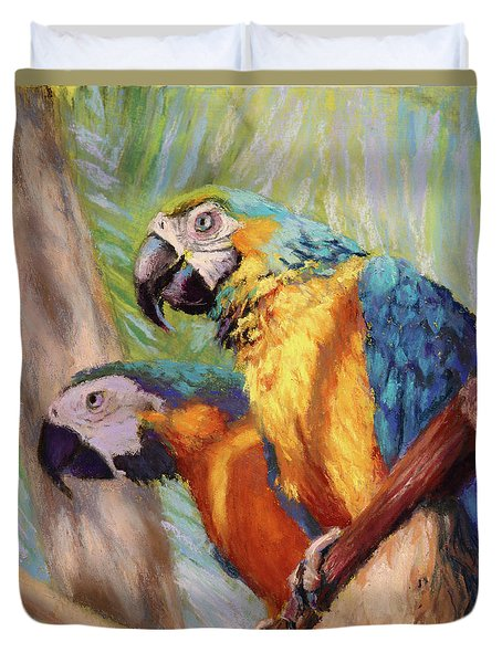 Macaws In The Sunshine Duvet Cover