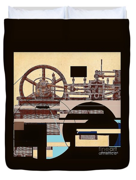 Machine Duvet Cover by Andrew Drozdowicz