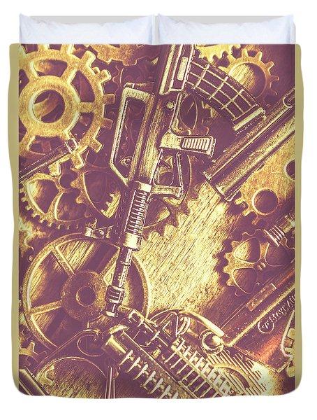 Machine Guns Duvet Cover