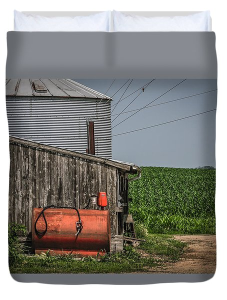 Machine Shed Duvet Cover by Ray Congrove