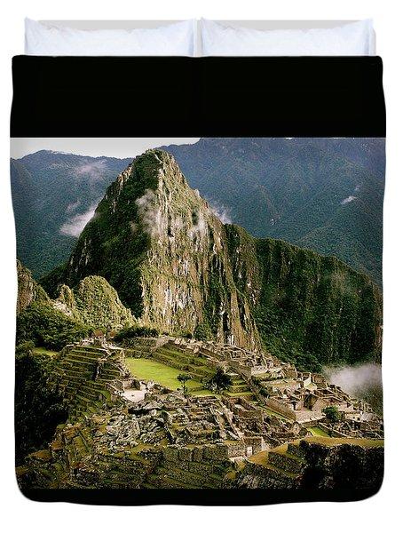 Machu Picchu At Sunrise Duvet Cover