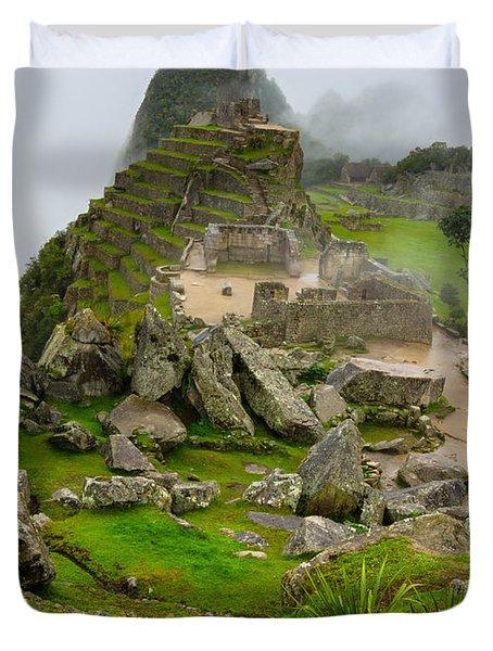 Machu Picchu Peru Duvet Cover by Andre Distel
