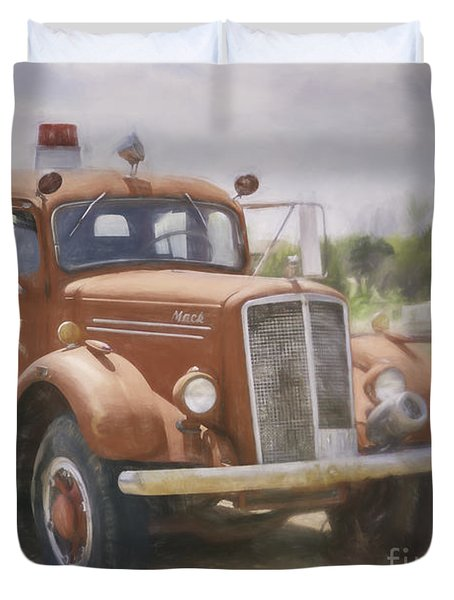 Mack Fire Truck  Duvet Cover