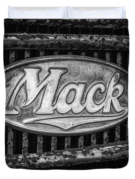 Mack Truck Emblem Duvet Cover