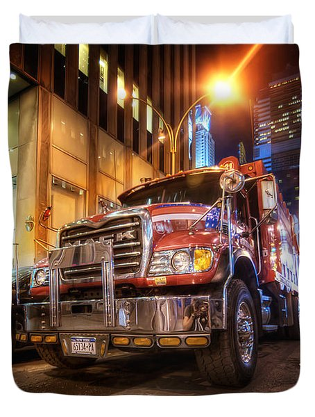 Mack Truck Nyc Duvet Cover