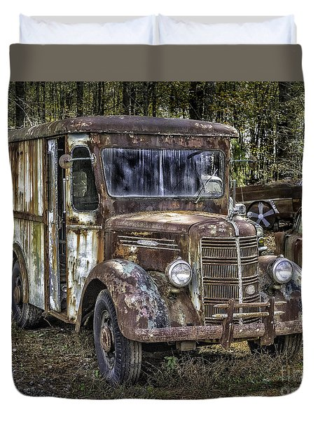 Very Old Mack Truck Duvet Cover