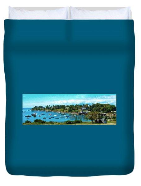 Mackerel Cove On Bailey Island Duvet Cover