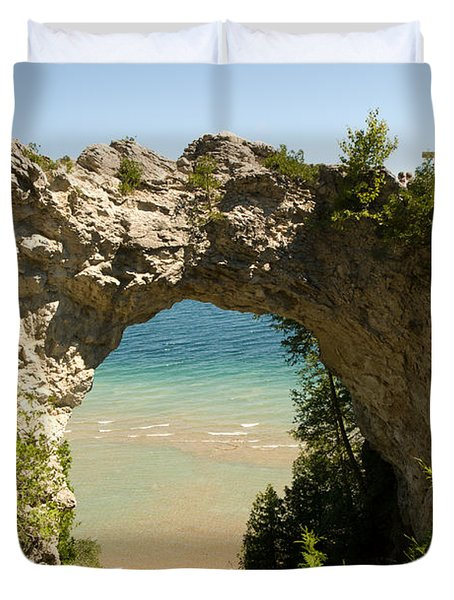 Mackinac Island Arch Duvet Cover