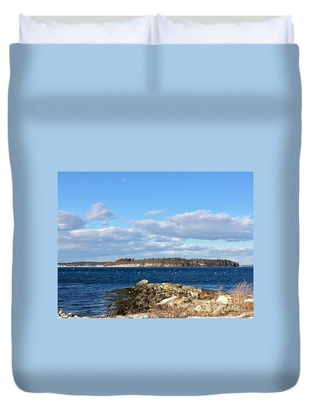 Mackworth Island Falmouth Maine Duvet Cover