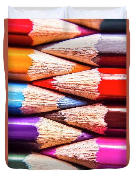 Macro Coloured Pencil Crossover Duvet Cover
