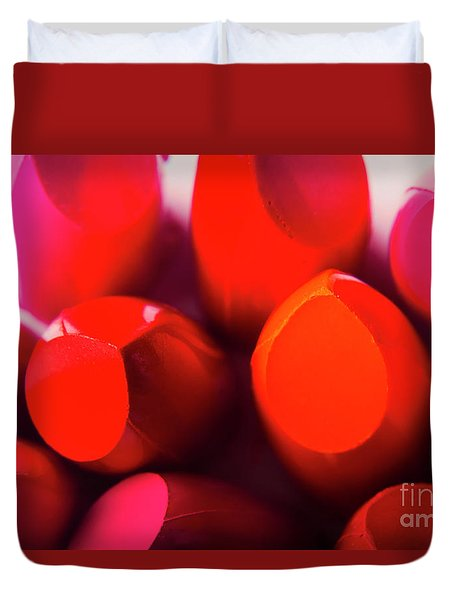 Duvet Cover featuring the photograph Macro Cosmetic Art by Jorgo Photography - Wall Art Gallery