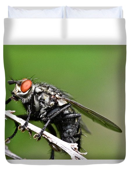 Macro Fly Duvet Cover