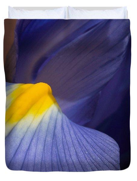 Macro Iris Duvet Cover by Arlene Carmel