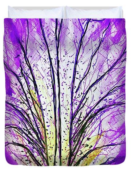 Macro Iris Petal Duvet Cover