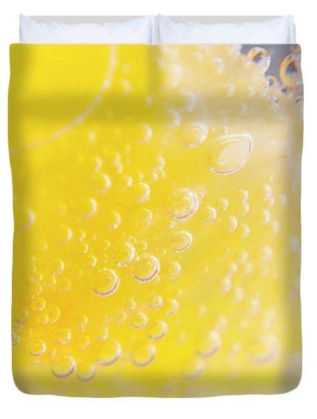 Macro Lemonade Bubbles Duvet Cover