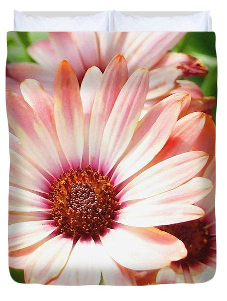 Macro Pink Cinnamon Tradewind Flower In The Garden Duvet Cover