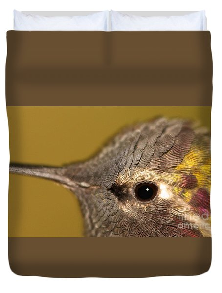 Macro Portrait Of Costa's Hummingbird Duvet Cover