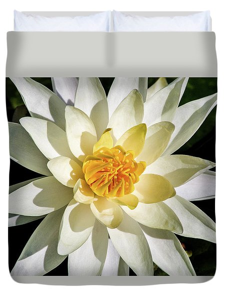Macro Water Lily Duvet Cover