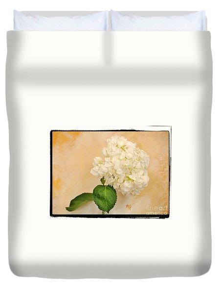 Macro White Hydrangea Duvet Cover