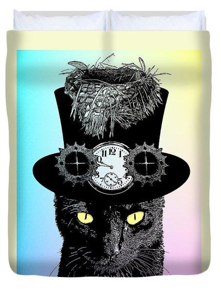 Mad Hatter Cat Duvet Cover