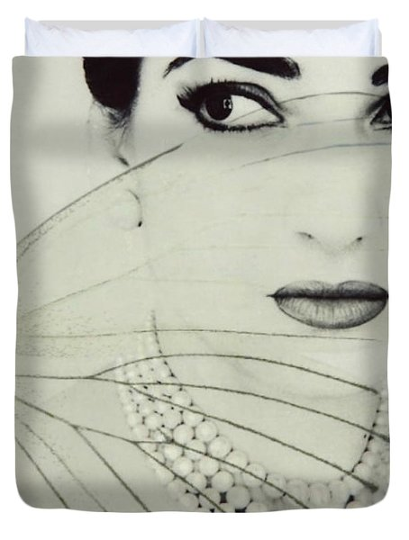 Madam Butterfly - Maria Callas  Duvet Cover
