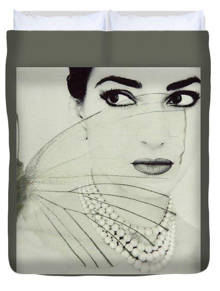 Madam Butterfly - Maria Callas  Duvet Cover