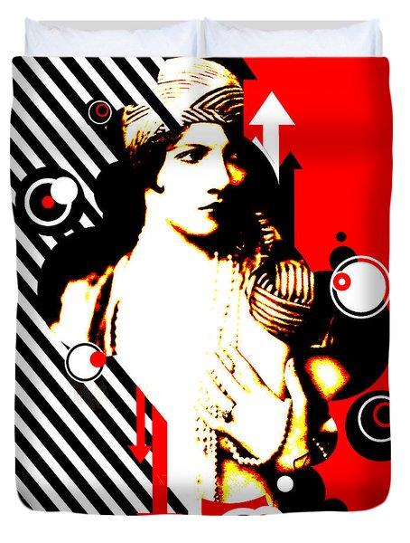 Madam Stripe Duvet Cover by Chris Andruskiewicz