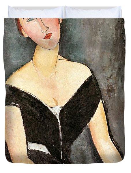 Madame G Van Muyden Duvet Cover by Amedeo Modigliani