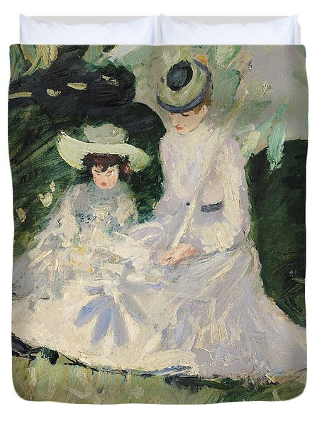 Madame Helleu And Her Daughter At The Chateau Of Boudran Duvet Cover