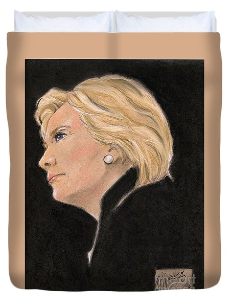 Madame President Duvet Cover by P J Lewis