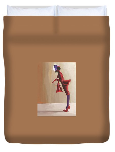 Madame Rouge Duvet Cover