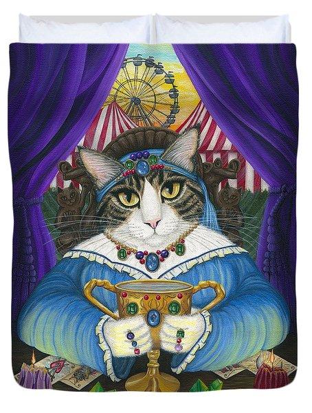 Madame Zoe Teller Of Fortunes - Queen Of Cups Duvet Cover