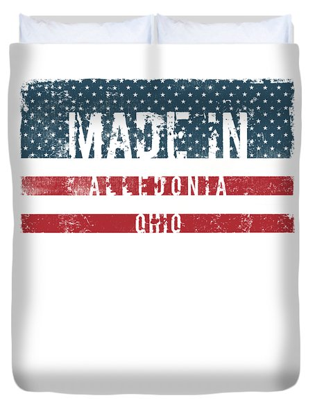 Made In Alledonia, Ohio Duvet Cover by Tinto Designs
