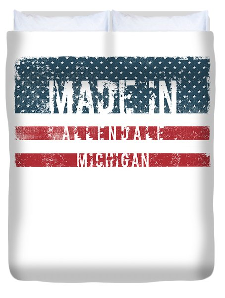 Made In Allendale, Michigan Duvet Cover by Tinto Designs