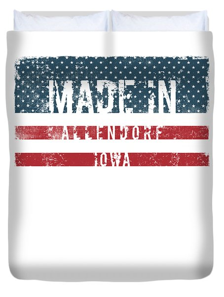 Made In Allendorf, Iowa Duvet Cover by Tinto Designs