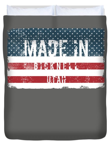 Made In Bicknell, Utah Duvet Cover by Tinto Designs