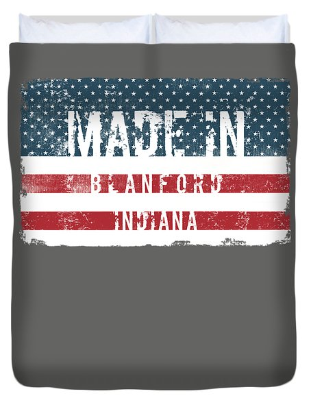 Made In Blanford, Indiana Duvet Cover by Tinto Designs
