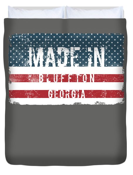 Made In Bluffton, Georgia Duvet Cover by Tinto Designs