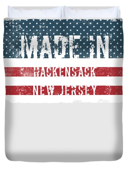 Made In Hackensack, New Jersey Duvet Cover