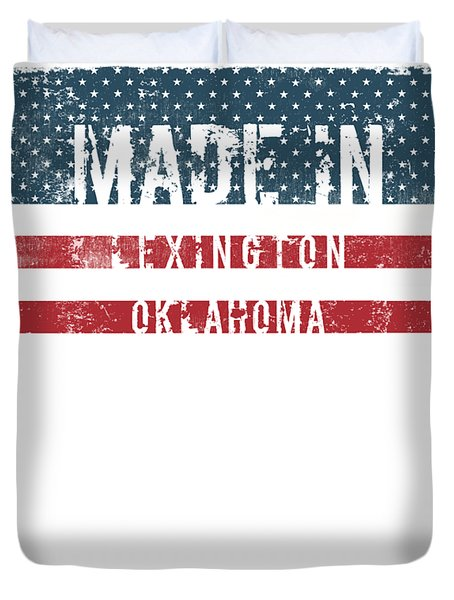 Made In Lexington, Oklahoma Duvet Cover