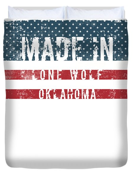 Made In Lone Wolf, Oklahoma Duvet Cover