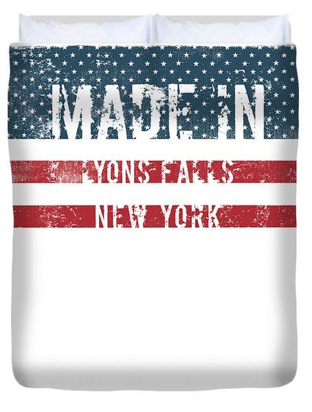 Made In Lyons Falls, New York Duvet Cover