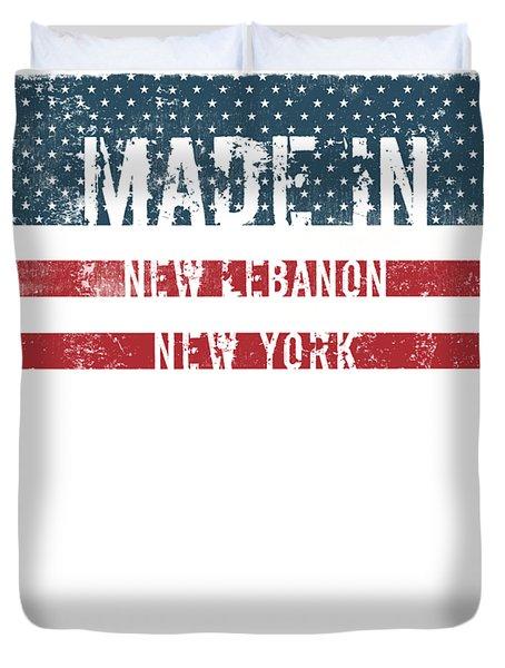 Made In New Lebanon, New York Duvet Cover