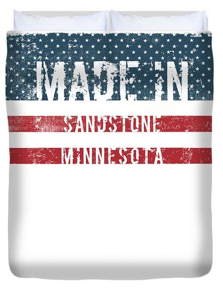Made In Sandstone, Minnesota Duvet Cover